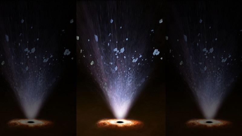 """""""UFOs"""" estão saindo de buracos negros e alterando galáxias para sempre"""