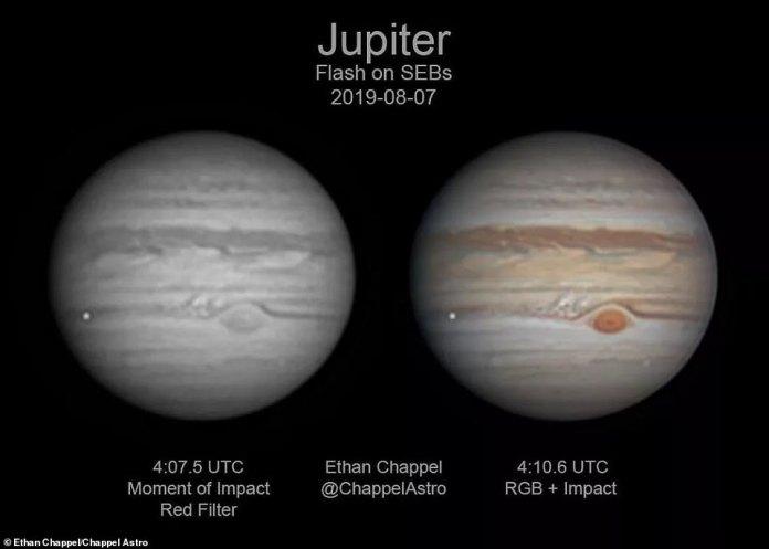 Algo grande atingiu Júpiter