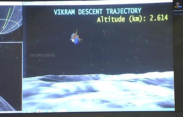 O módulo lunar da Índia está inteiro e perto do local onde deveria ter pousado