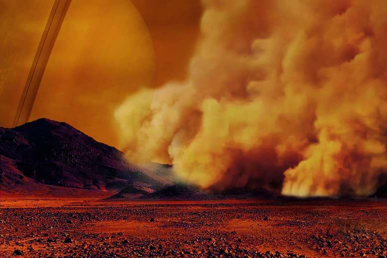 """O mistério das dunas de lua de Saturno - """"Não sabemos como chegaram lá"""""""