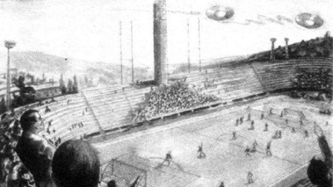 O dia em que vários OVNIs interromperam um jogo de futebol
