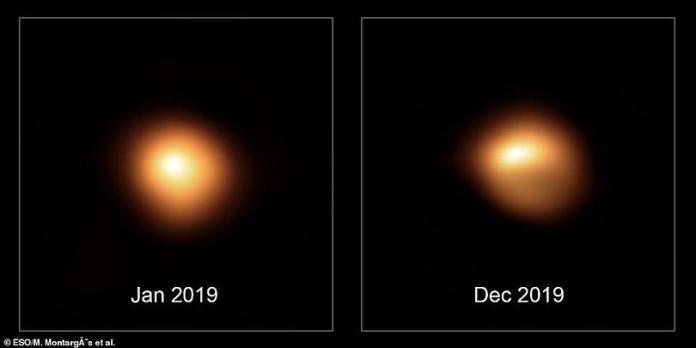 Estrela Betelgeuse não só está escurecendo, mas também está mudando de forma