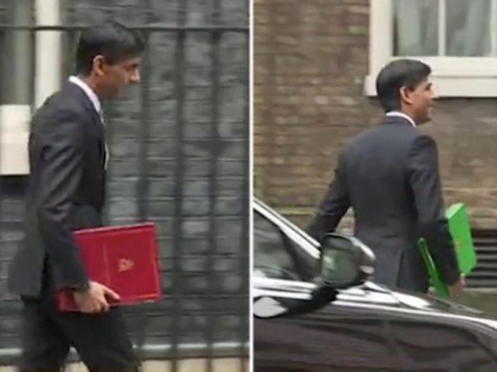 Pasta com orçamento britânico muda de cor durante reportagem (Efeito Mandela?)