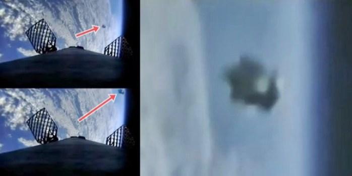 Missão SpaceX Falcon 9 filma um OVNI ao vivo