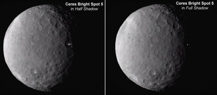Uma mensagem extraterrestre luminosa na superfície de Ceres