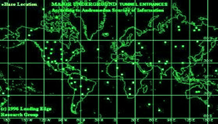 Existem mais de 1.400 bases alienígenas subterrâneas na Terra?