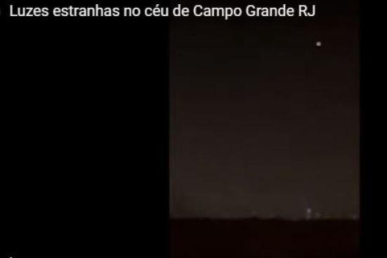 Luzes estranhas aparecem no céu do Rio de Janeiro