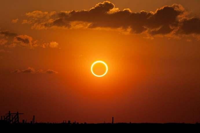 O eclipse solar de 21 de junho criará um 'anel de fogo' no céu