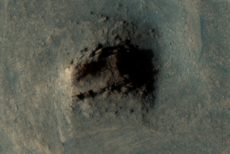 Seria esta uma antiga ruína em Marte, ou somente uma formação natural?