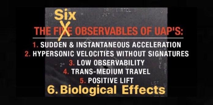 6º observável da AATIP: efeitos biológicos e lesões pelo fenômeno