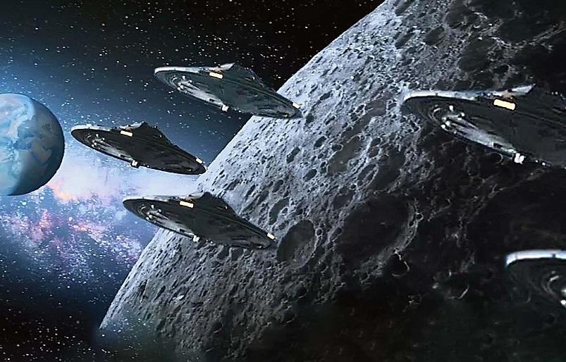 Há 'tráfego na Lua', mas não de naves humanas