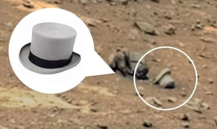 """""""Pesquisador"""" diz ter encontrado uma cartola em Marte"""