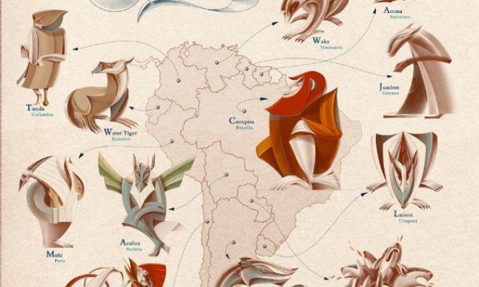 As criaturas míticas mais famosas de todos os países do mundo