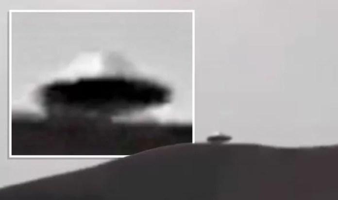 Teria um disco voador sido filmado pairando sobre montanha no México?