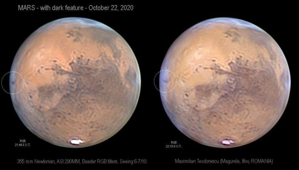 Mistério em Marte: faixa escura aparece em sua superfície
