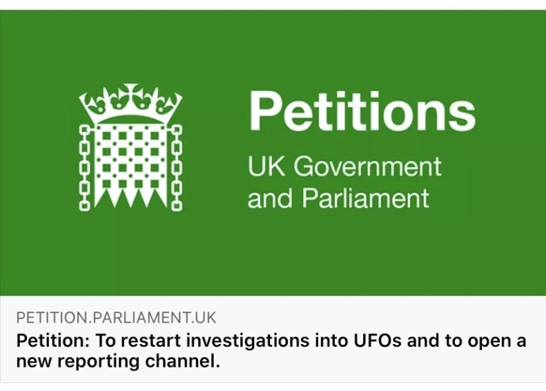 Iniciativa para fazer o Parlamento britânico investigar OVNIs
