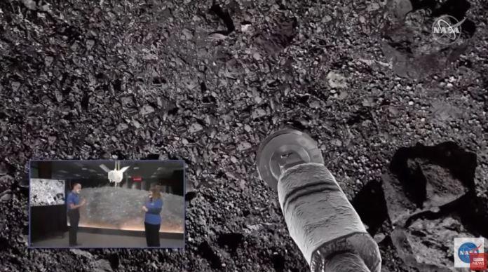 Sonda OSIRIS-REx da NASA toca em asteroide Bennu