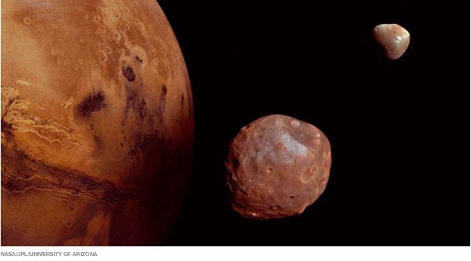 Marte pode ter roubado um pedaço da nossa Lua