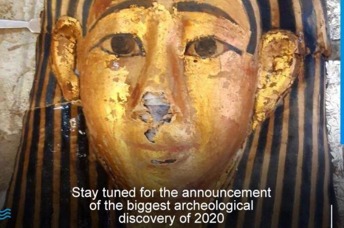 Egito anunciará a maior descoberta arqueológica de 2020 nos próximos dias