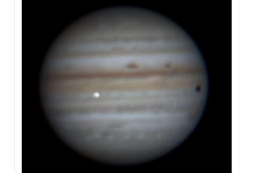 Algo enorme recém colidiu com Júpiter e foi filmado