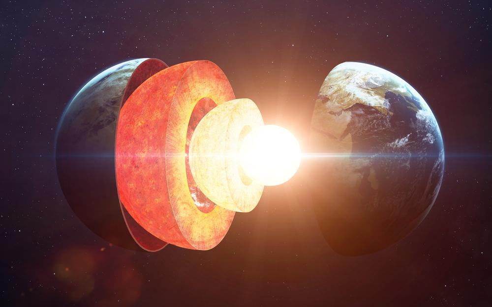 O núcleo da Terra está crescendo mais de um lado do que do outro
