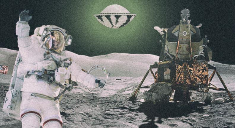 Atividade intensa de OVNIs perto da missão lunar é revelada em imagens da NASA