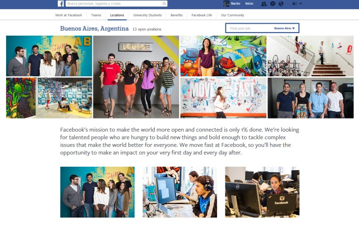 Trabajos Facebook Argentina
