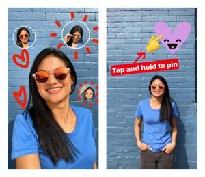 Selfie Sticker and Pinning