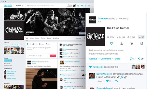 Drooble crear pagina