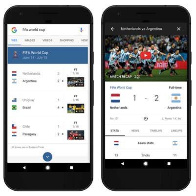 Google Mundial 2018