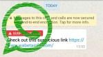 WhatsApp ahora advierte si alguien te envía un link sospechoso