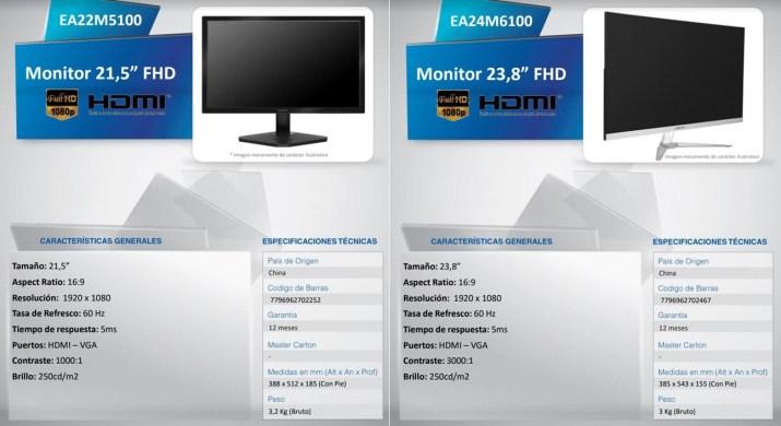 Monitores Noblex