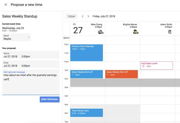 Reprogramar reunion Google Calendar