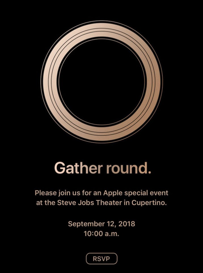 iPhone XS invitacion
