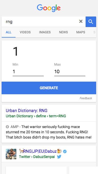 Generador numeros Google