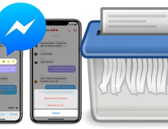 Borrar mensajes enviados Messenger
