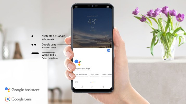 LG G7 ThinQ botones Google