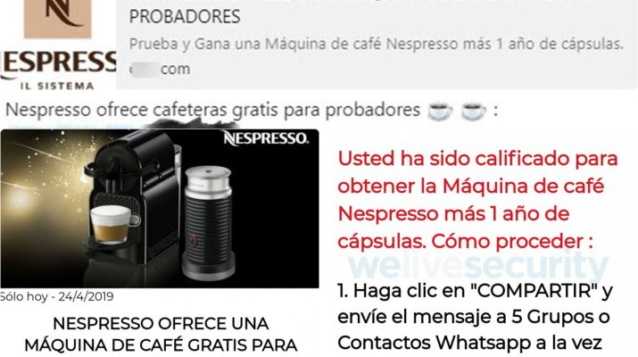 Nespresso gratis WhatsApp