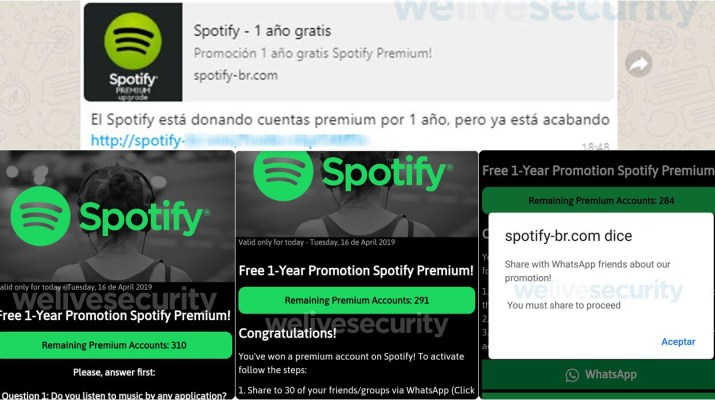 Spotify estafa