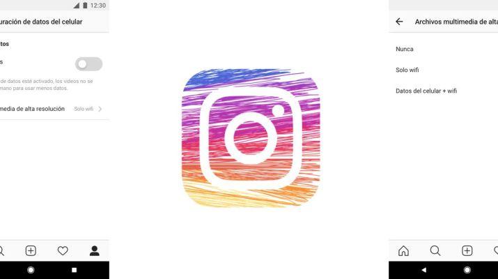 Ahorro datos Instagram