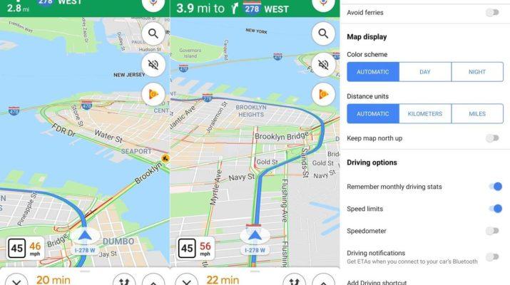 Indicador velocidad Google Maps