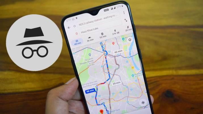 Modo Incognito Google Maps