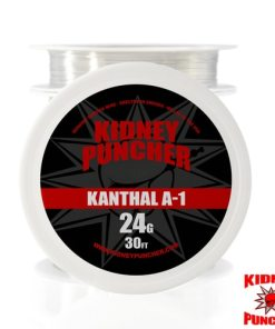 Kidney Puncher KANTHAL A-1 Wire 30 feet Kanthal A-1 Resistance Wire on a spool as shown in the picture. Kidney Puncher KANTHAL A-1 Wire 30 feet . Made in the USA. This is NOT China wire. Specifications: Contains: approx 70% iron, .08% carbon, .7% silicon, .4% manganese , approx 22% chromium, 5.8% aluminum 30ft Made in USA Kidney Puncher American Premium Vaping Wires