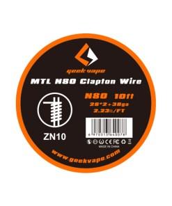 GeekVape MTL Clapton Wire NI80 10ft