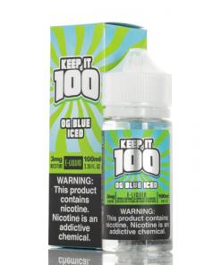 Keep it 100 OG Blue ICED eLiquid 100ml
