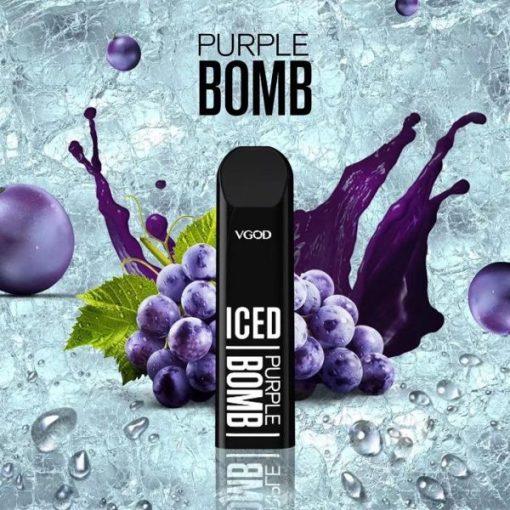 VGOD STIG Disposable Pod PURPLE BOMB ICED 1pcs