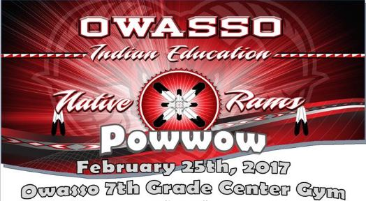 Powwow to be held at the Owasso 7th Grade Center end of February