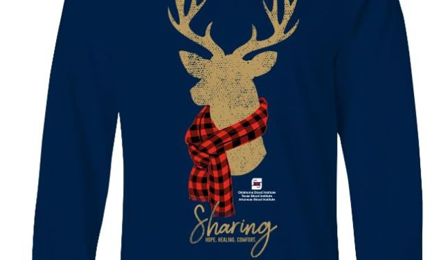 Need for Blood Increases as Holidays Approach: Special Edition Holiday Shirt Available