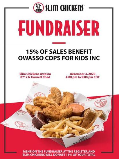 Owasso Cops for Kids Slim Chickens Fundraiser