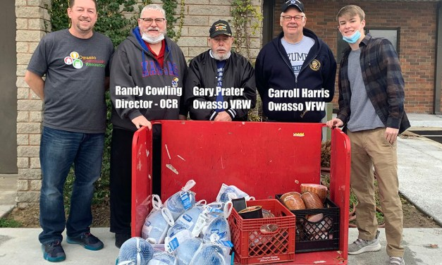 Owasso VFW Post 7180 Donates Hams/Turkeys to Owasso Community Resources